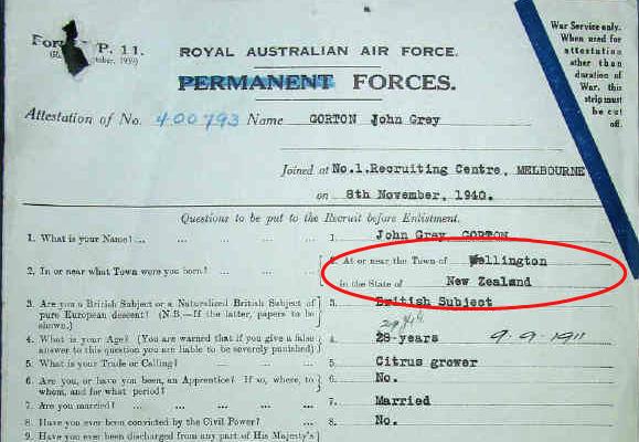 Gorton RAAF licence